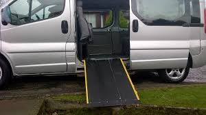 Taxi wheelchair ramp